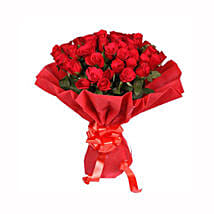 Ruby Red: Flower Bouquets Gurgaon