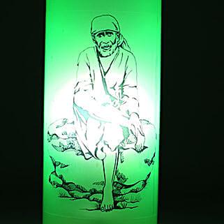 Sai Baba Bottle Lamp: Home Decor Anniversary Gifts