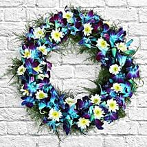 Serene Flower Wreath: Send Orchids