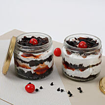 Set of 2 Sizzling Black Forest Jar Cake: Cake Delivery in Indore