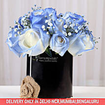 Shaded Love- Blue Roses Arrangement: Send Congratulations Flowers