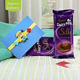 Silk Chocolate N Kids Rakhi: Rakhi with Chocolates