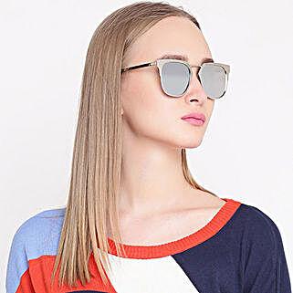 Silver Wayfarer Unisex Sunglasses: Fashion Accessories