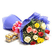 Simple Mix Emotions: Flowers N Chocolates - birthday