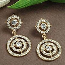 Small Dazzling Earring: Karwa Chauth Gifts Jaipur