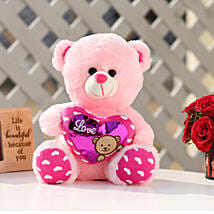 Small Heart Pink Color Teddy Bear: Valentines Day Soft toys
