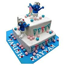 Smurfs Birthday Cake: Send Chocolate Cakes to Pune