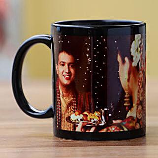 So Romantic Personalised Black Mug: Send Karwa Chauth Gifts