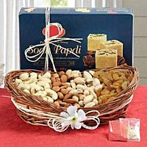 Soan Papdi N Dry Fruits Hamper: Bhai Dooj Gifts Srinagar