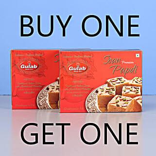Soan Papdi Sweets- Buy 1 Get 1: Buy Sweets