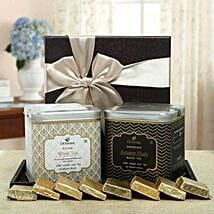 Sophisticated Tea Hamper: Valentines Day Lucky Bamboo