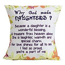 Special Daughters Cushion: Gifts for Girls