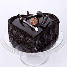 Special Heart Chocolate Cake: Send New Year Cakes to Kanpur