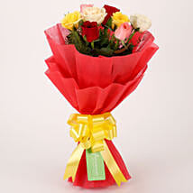 Special Mixed Roses Bouquet: Anniversary Gifts for Parents