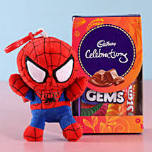 Spiderman Kids Rakhi & Cadbury Celebrations: Rakhi Gifts to Etawah