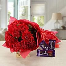 Splendid Combo: Flowers & Chocolates for Propose Day