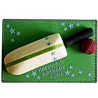 Splendid Cricket Bat Ball Cake: Send Bhai Dooj Gifts to Ahmedabad