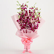 Splendid Purple Orchids Bouquet: Send Wedding Gifts to Gandhinagar