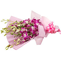 Splendid Purple Orchids: Send Flower Bouquets to Gurgaon