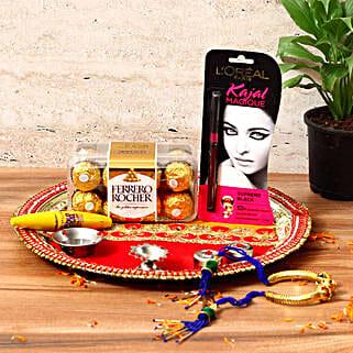 Stylish Karwa Chauth Gift Hamper: Karwa Chauth Pooja Thali