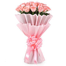 Stylish Pink Roses Bouquet: Roses