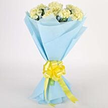 Sundripped Yellow Carnations Bouquet: Valentine Flowers Raipur