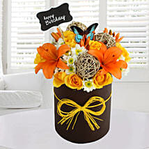 Sunny Floral Arrangement: Mixed flowers