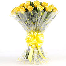 Sunny Side-24 Yellow Roses Bouquet: Anniversary Flowers