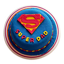 Super Dad Designer Cake: Fathers Day Gifts Hyderabad