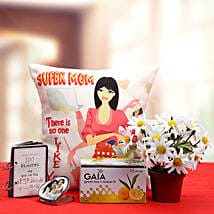 Super Mom Gift Hamper: Send Artificial Flowers to Hyderabad
