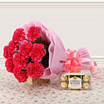 Supernova Pink: Flowers N Chocolates - birthday