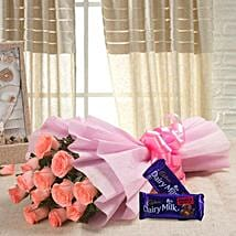 Sweet Elegance: Flowers & Chocolates for Birthday