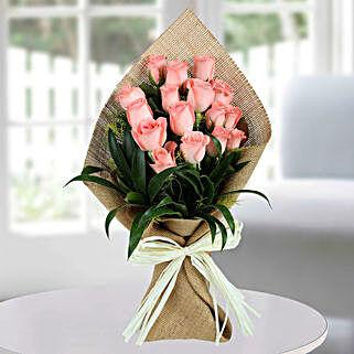Sweet Pink Roses Bunch: Send Flowers for Rakhi