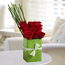 Sweet Red Rose Arrangement: Send Flowers to Noida
