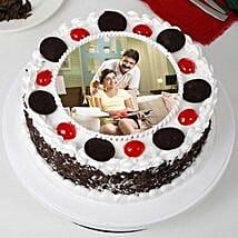 Tasty Black Forest Photo Cream Cake for Fathers Day: Fathers Day Cakes