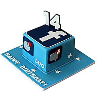 Tasty Facebook Cake: Cakes for Friend
