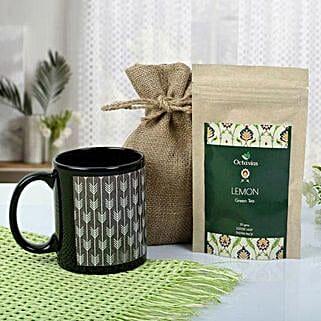 Tea With Mug Hamper: Romantic Chocolate Bouquet