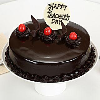 Teachers Day Chocolate Truffle Cake: Send Gifts for Teachers Day
