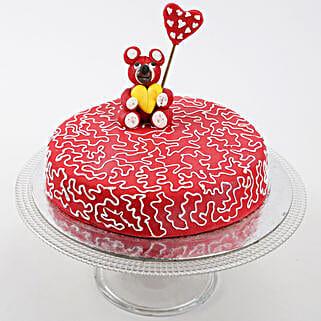 Teddy Hearts Cake: