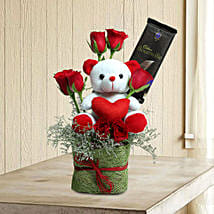 Teddy With Roses: Send Friendship Day Chocolates