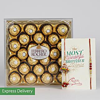 Tempting Choco Rakhi: