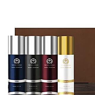 The Man Company Set of 4 Body Perfume: Cosmetics & Spa Hampers