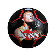 The Rock Soccer Ball with Cool Dude Smiley: