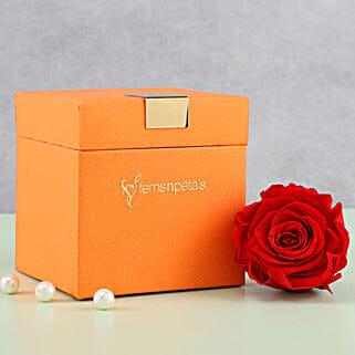 Timeless- Forever Red Rose in Orange Box: Flowers to Agartala