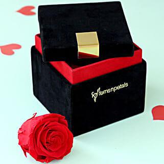 Timeless- Forever Red Rose in Velvet Box: