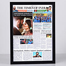 TOI Front Page Personalised Frame-Anniversary: Send Personalised Photo Frames for Him