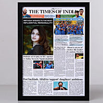 TOI Front Page Personalised Frame-Birthday: Send Personalised Photo Frames for Wife