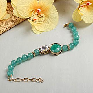 Turquoise Bracelet Rakhi: Rakhi to Anantnag