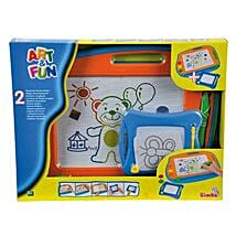 Twin Pack Drawing Boards with Cool Dude Smiley: Gifts for Kids