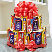 Two Layer Assorted Chocolate Arrangement: Diwali Gifts for Parents